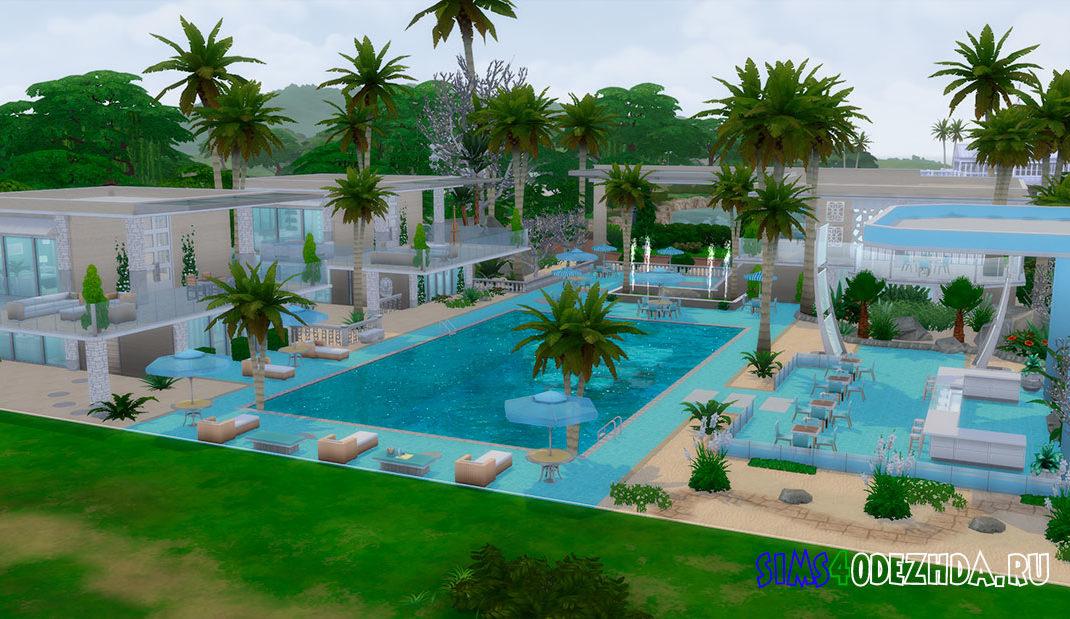 Курортный дом для Симс 4 – фото