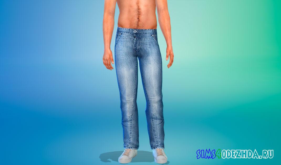 Модные джинсы для мужчин для Симс 4 – фото 1