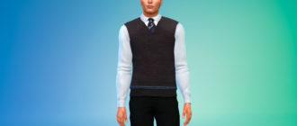 Мужская униформа Хогвартса для Симс 4 – фото 1