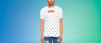 Мужские футболки Supreme для Симс 4 – фото 1