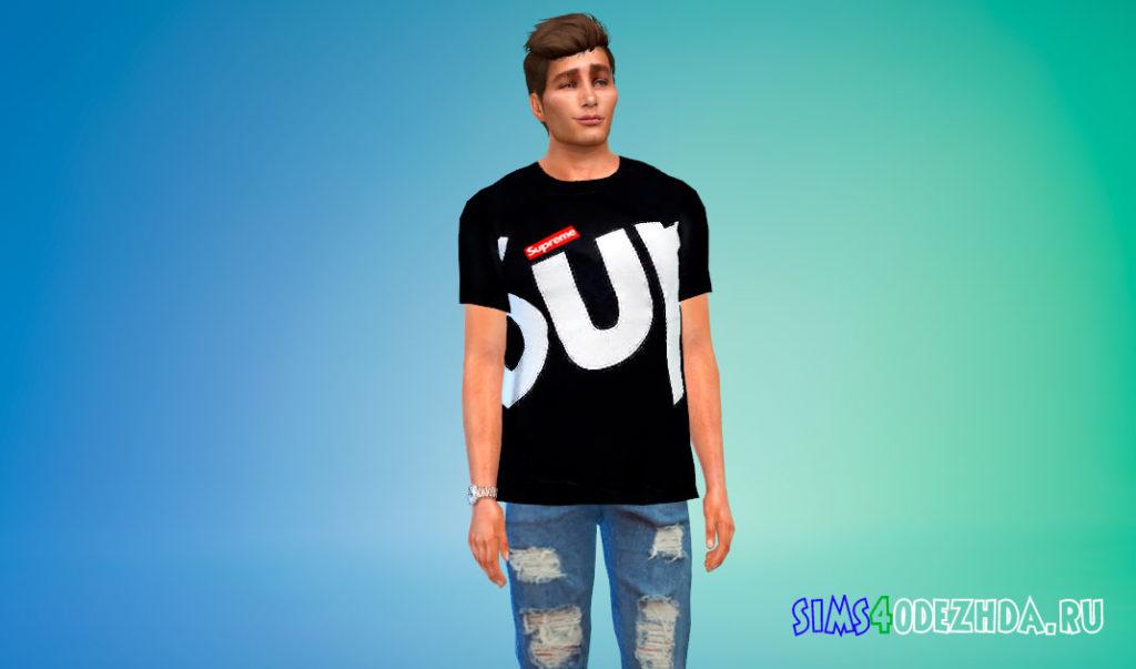 Мужские футболки Supreme для Симс 4 – фото 3