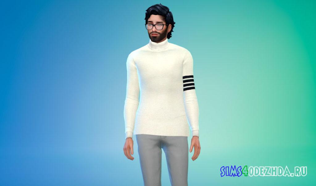 Мужской свитер с горлом для Симс 4 – фото 2