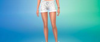 Набор пижамных шорт для Симс 4 – фото 1