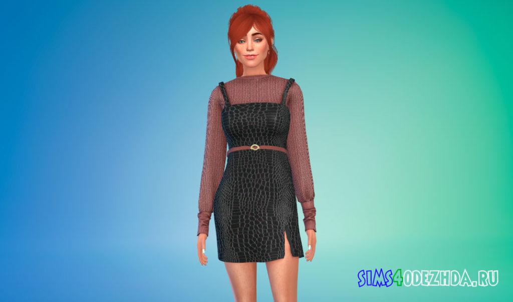 Платье со свитером для Симс 4 – фото 3