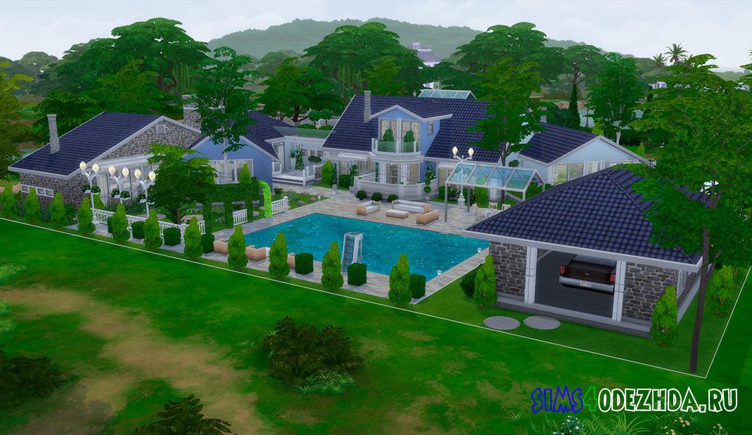 Роскошный семейный дом для Симс 4 – фото