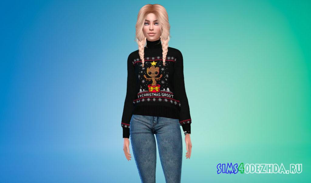 Рождественский свитер для Симс 4 – фото 2