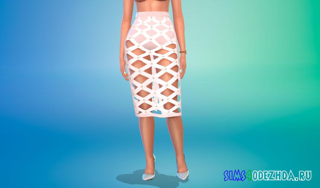 Стильная длинная юбка для Симс 4 – фото 1