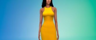 Женское платье с открытой спиной для Симс 4 – фото 1