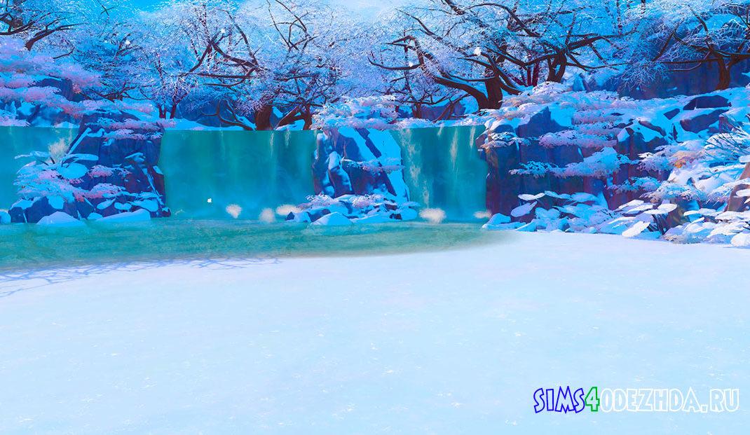 Фон для CAS Гора Комореби для Симс 4 - фото 1
