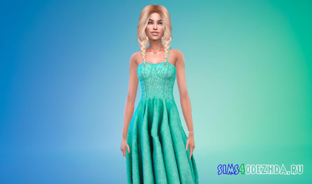 Яркое бальное платье для Симс 4 – фото 1