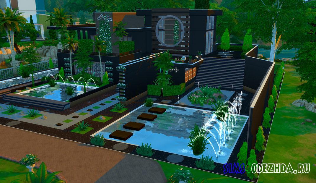 Эко дом в стиле модерн для Симс 4 - фото
