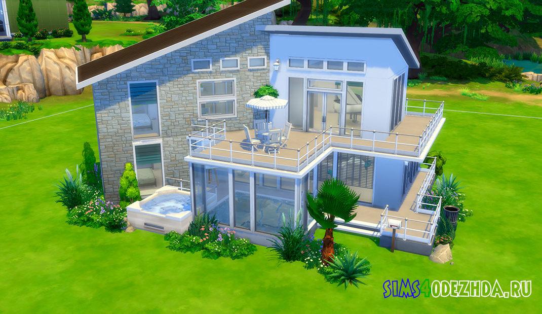 Маленький белый домик для Симс 4 - фото