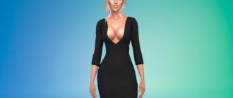Платье Мортиши Аддамс для Симс 4 – фото 1