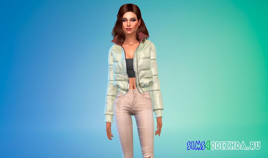 Простая дутая куртка для Симс 4 – фото 1