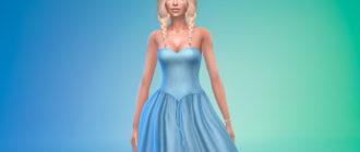 Пышное платье с корсетом для Симс 4 – фото 1