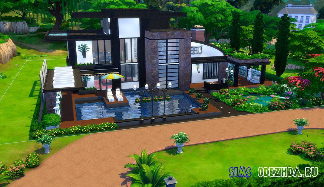 Роскошный дом в современном стиле для Симс 4 - фото