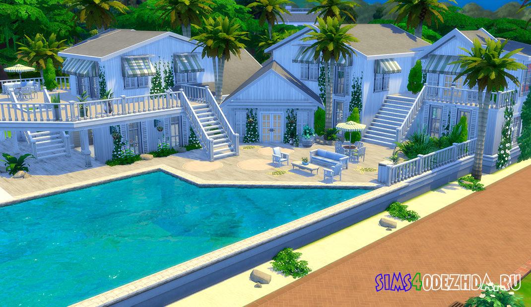 Семейный дом на пляже для Симс 4 - фото