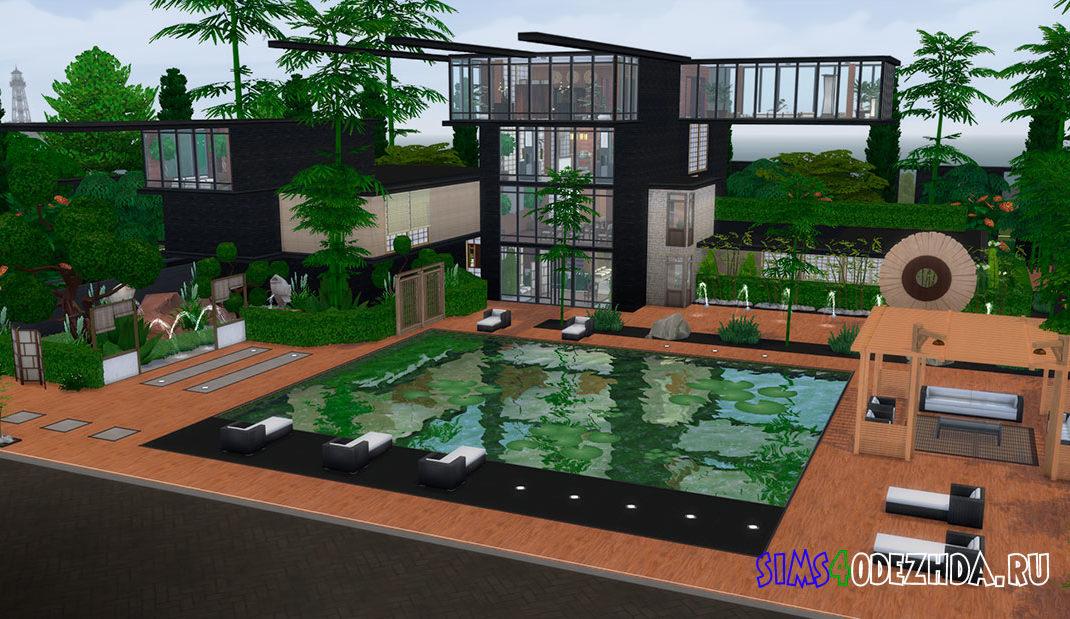 Современный японский дом для Симс 4 - фото