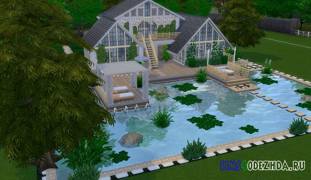 Уютный каменный дом для Симс 4 - фото