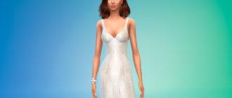 Винтажное свадебное платье для Симс 4 – фото 1