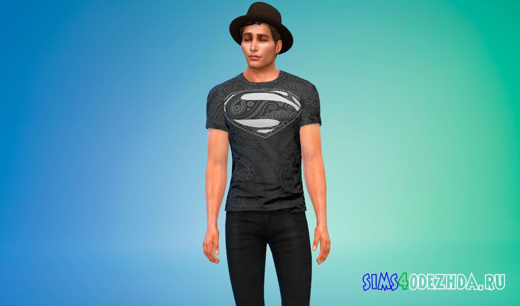 Футболки с дизайном супергероев для Симс 4 – фото 1