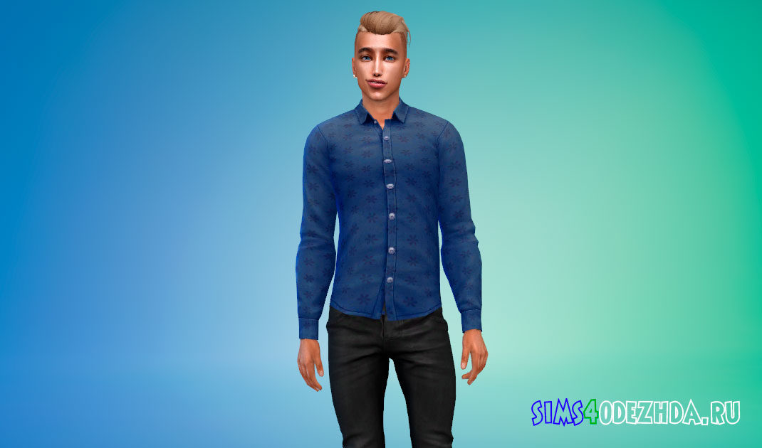Модная мужская рубашка для Симс 4 – фото 1