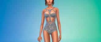Модный женский купальник для Симс 4 – фото 1