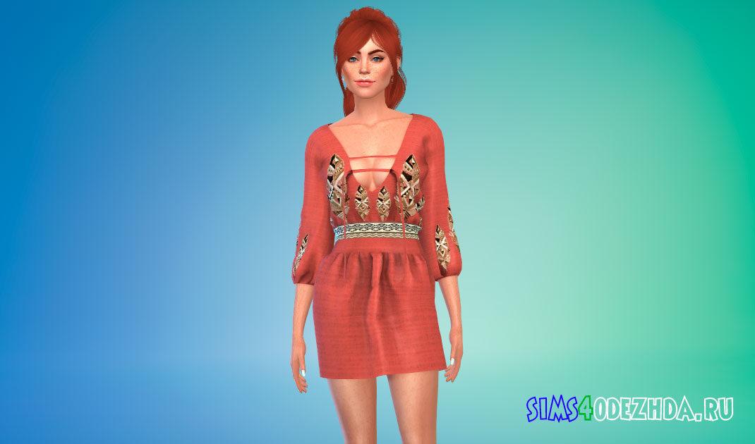 Платье Богемия для Симс 4 – фото 1
