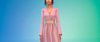 Платье Сансы Старк для Симс 4 – фото 1