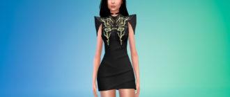 Платье в духе Байонетты для Симс 4 – фото 1