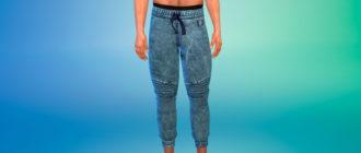 Спортивные повседневные джинсы для Симс 4 – фото 1