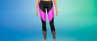 Спортивные женские леггинсы Найк для Симс 4 – фото 1