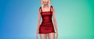 Стильное мини-платье для Симс 4 – фото 1