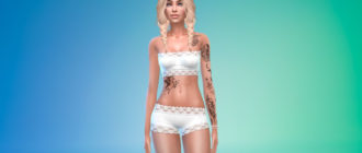 Женская татуировка Разбитые мечты для Симс 4 – фото 1