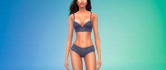 Женское кружевное белье для Симс 4 – фото 1