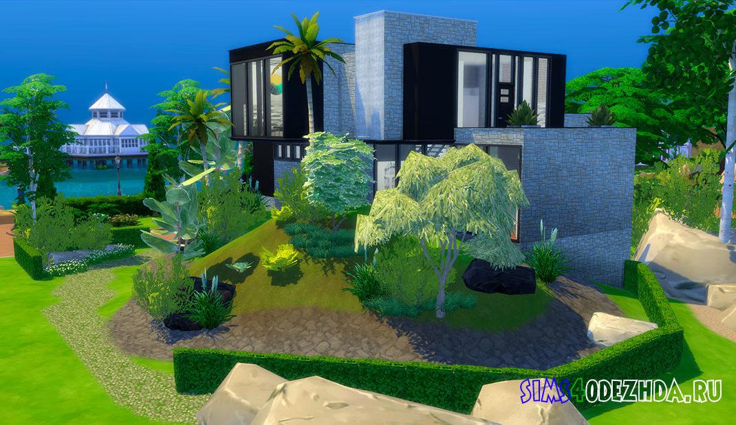 Дом в стиле баухаус для Симс 4 – фото