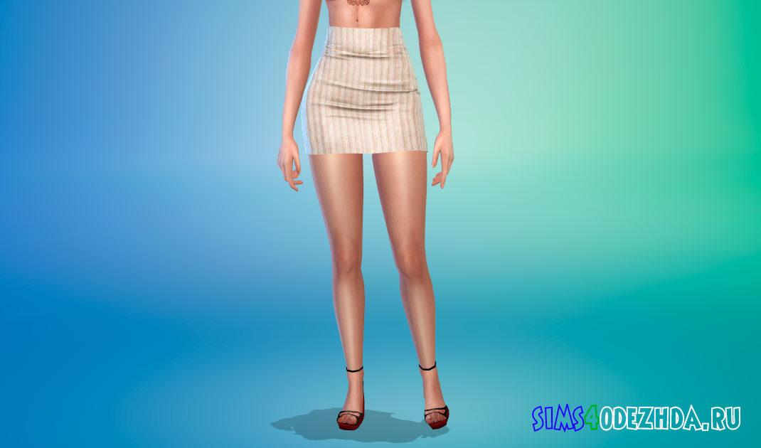 Короткая обтягивающая юбка для Симс 4 – фото 1