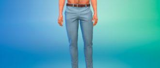 Мужские классические брюки для Симс 4 – фото 1