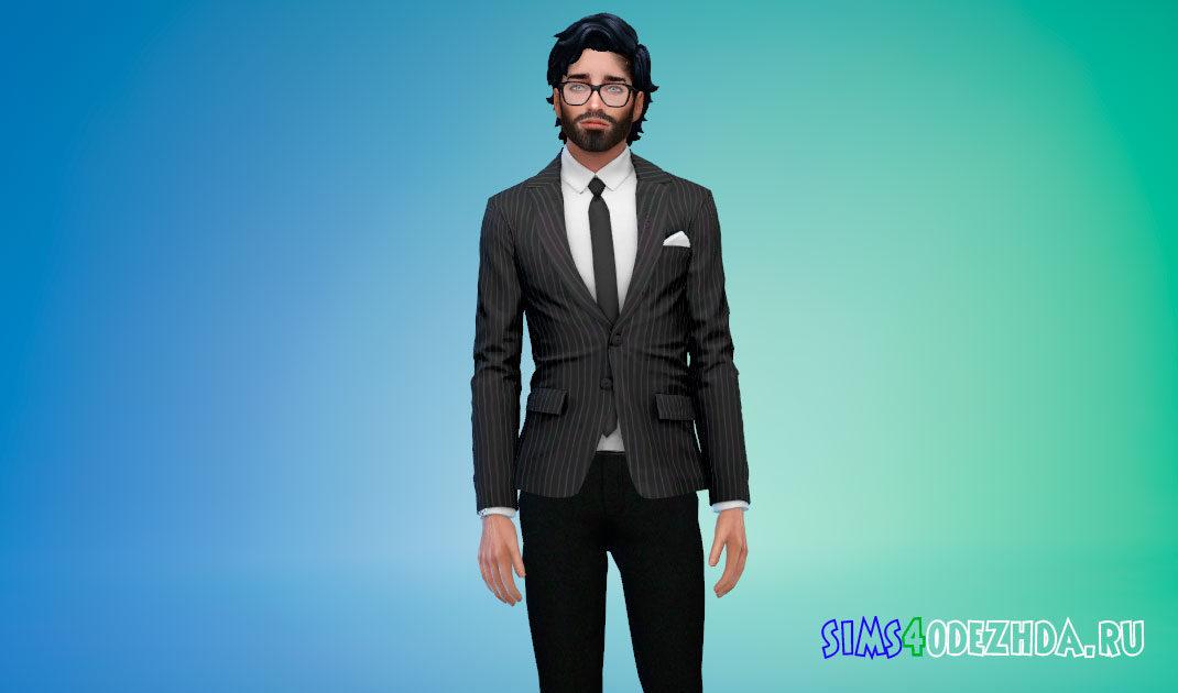Мужской классический пиджак для Симс 4 – фото 1