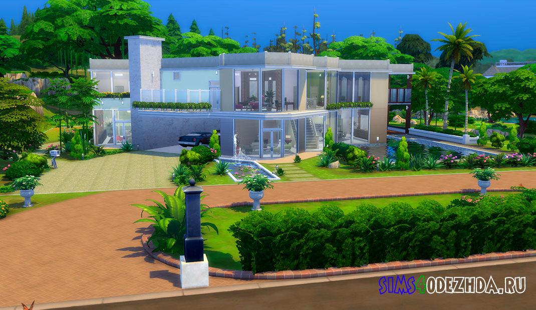 Особняк в современном стиле архитектуры для Симс 4 – фото