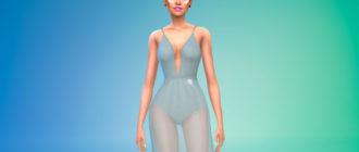 Платье с прозрачной юбкой для Симс 4 – фото 1