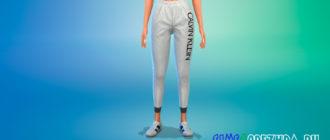 Повседневные штаны Calvin Klein для Симс 4 – фото 1