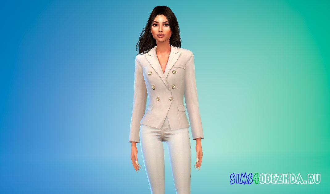 Шикарный женский пиджак для Симс 4 – фото 1