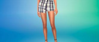 Стильная ассиметричная юбка для Симс 4 – фото 1