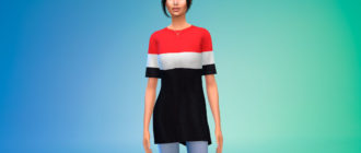 Стильная оверсайз футболка для Симс 4 – фото 1