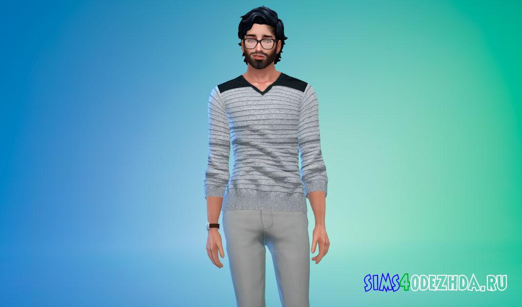 Комплект мужских свитшотов для Симс 4 – фото 1