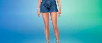 Милые джинсовые шорты для Симс 4 – фото 1