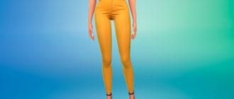 Модные джинсы с высокой талией для Симс 4 – фото 1