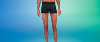 Мужские шорты для бега для Симс 4 – фото 1