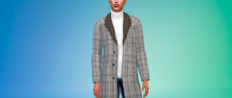 Мужское пальто со свитером для Симс 4 – фото 1